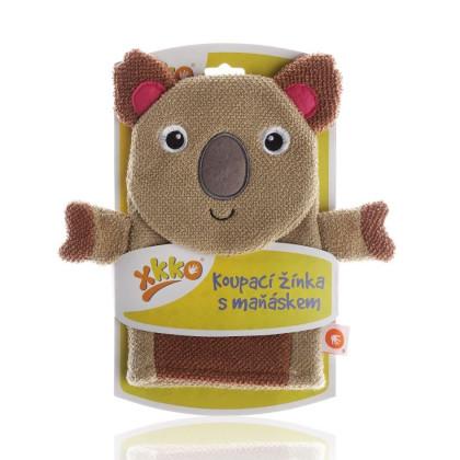 XKKO Waschlappemit Handpuppe (BA) - Koala