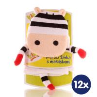 XKKO Waschlappemit Handpuppe (BA) - Zebra 12x1St. (GH Packung)