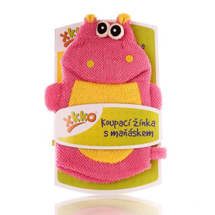 XKKO Waschlappemit Handpuppe (PE) - Hippo