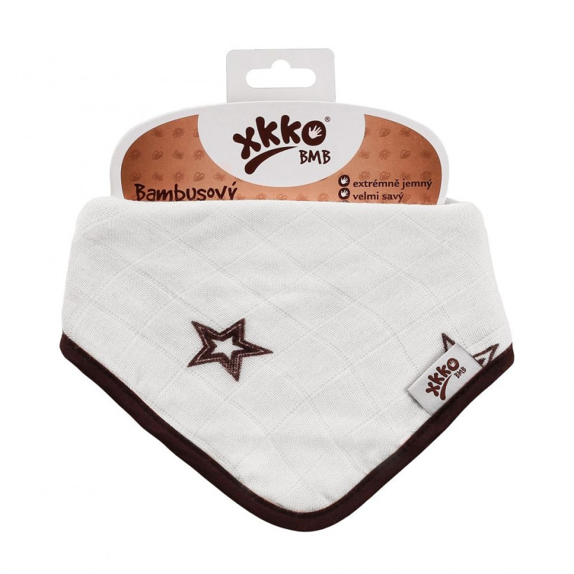 Kinderschal XKKO BMB - Natural Brown Stars 1 St.