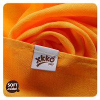 XKKO BMB Musselin Bambuswindeln 70x70 - Orange Stars MIX 3er Pack