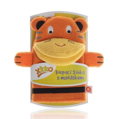 XKKO Waschlappemit Handpuppe (BA) - Tiger