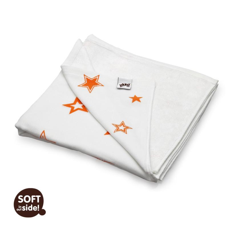 XKKO BMB Bambusdecke 130x70 - Orange Stars 1St.