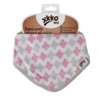 Kinderschal XKKO BMB - Scandinavian Baby Pink Cross 3x1 St. (GH packung)