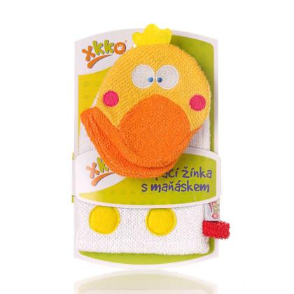 XKKO Waschlappemit Handpuppe (BA) - Duck