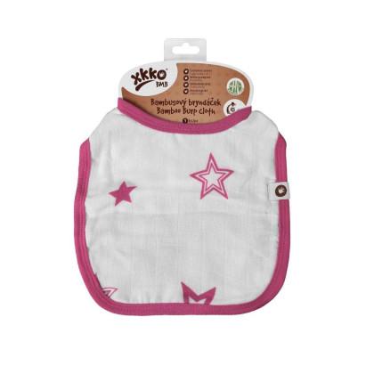 XKKO BMB Kinderlätzchen - Magenta Stars