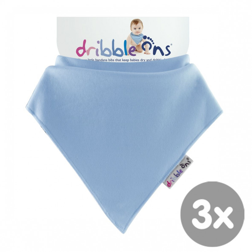 Dribble Ons Classic - Baby Blue 3x1St. (GH Packung)