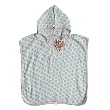 Bambus-Poncho XKKO BMB - Cross Mint