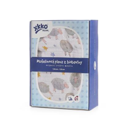 XKKO Organic Bio-Baumwolle Windel 120x120 - Dreamy Sheeps 1St.