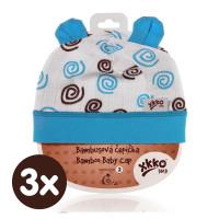 XKKO BMB Kindermütze - Cyan Spirals 3x1St. (GH Packung)