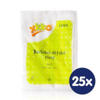 Baumwollwindeln XKKO Classic 80x80 - White 25x10er Pack (GH Packung)