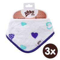 Kinderschal XKKO BMB - Ocean Blue Hearts 3x1 St. (GH packung)