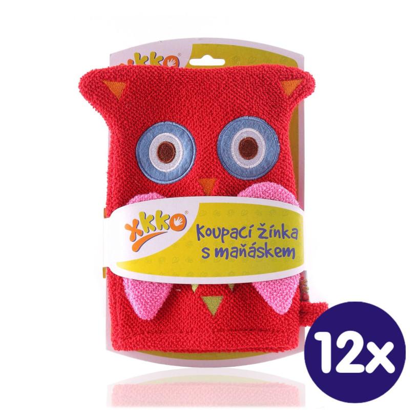 XKKO Waschlappemit Handpuppe (BA) - Owl New 12x1St. (GH Packung)
