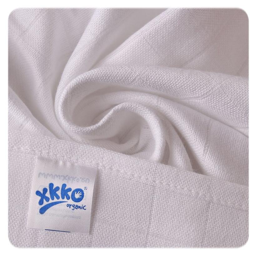 BIO-Baumwolle Windeln XKKO Organic 70x70 Old Times -  White 5er Pack