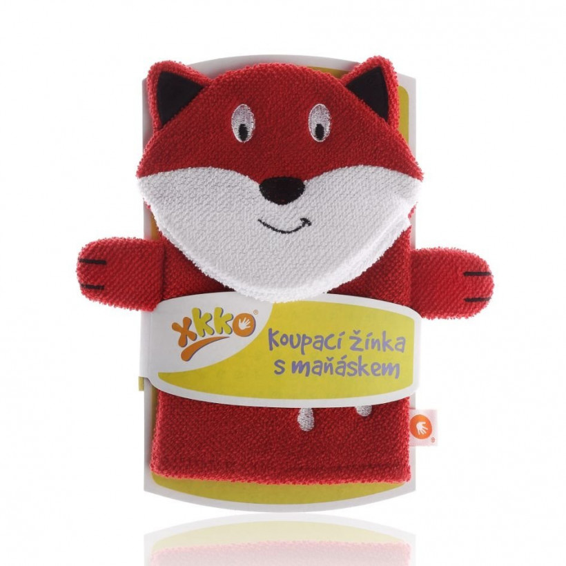 XKKO Waschlappemit Handpuppe (BA) - Fox