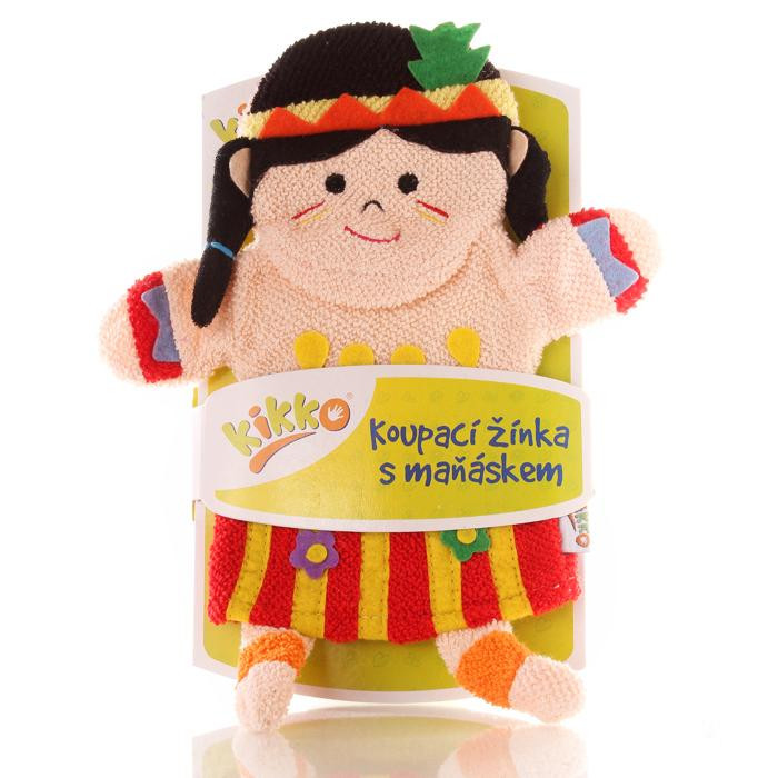 XKKO Waschlappemit Handpuppe (BA) - Indian girl