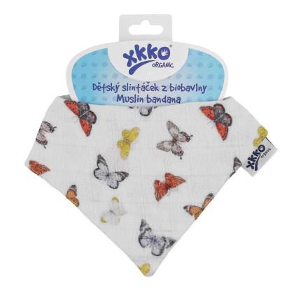 Kinderschal XKKO Organic - Butterflies 1St.