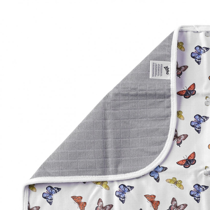 Waschbare Wickelunterlage XKKO 50x70 - Butterflies