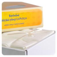 Baumwollwindeln XKKO LUX ECO 80x80 - Natural 10er Pack