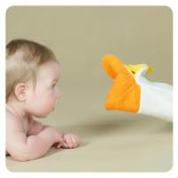 XKKO Waschlappemit Handpuppe (BA) - Giraffe