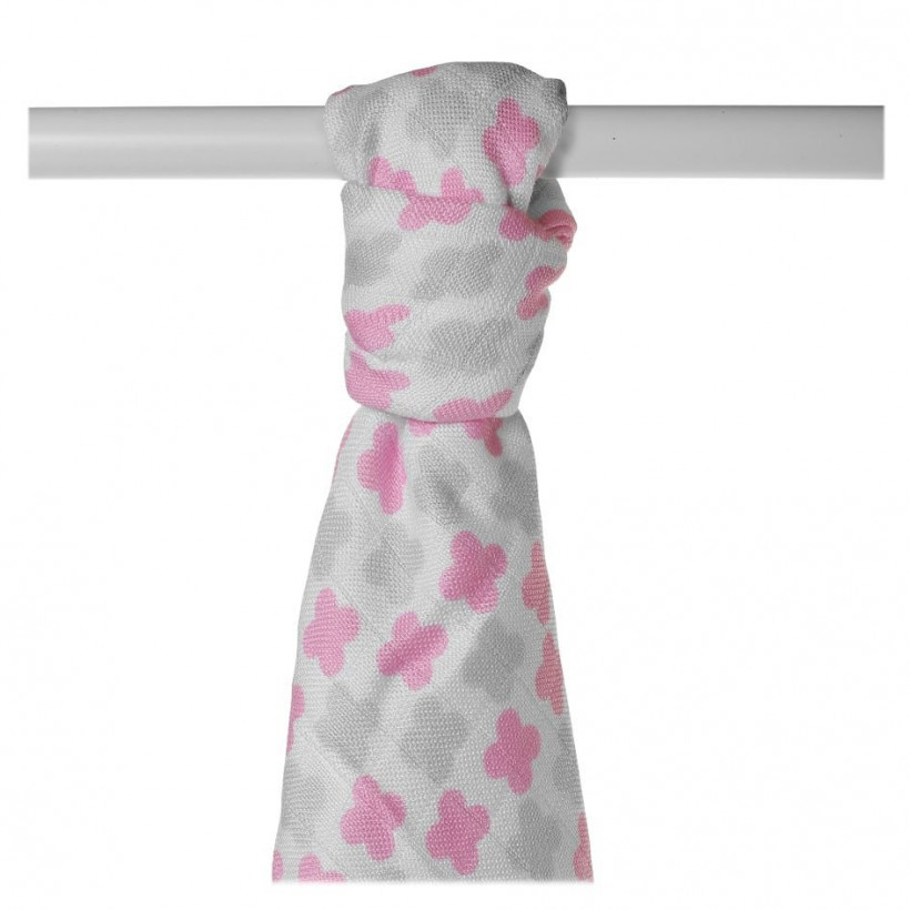 XKKO BMB  Windeltücher 90x100 - Baby Pink Cross 1St.