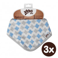 Kinderschal XKKO BMB - Scandinavian Baby Blue Cross 3x1 St. (GH packung)