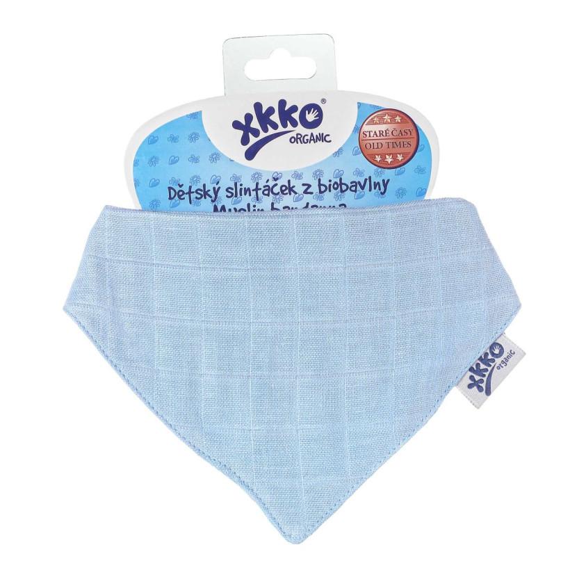 Kinderschal XKKO Organic Old Times - Sky Blue 1St.