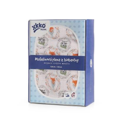 XKKO Organic Bio-Baumwolle Windel 120x120 - Fox&Raccoon 1St.