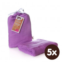 XKKO BMB Bambus Musselinwickeltuch 120x120 - Lilac 5x1 St. (GH packung)