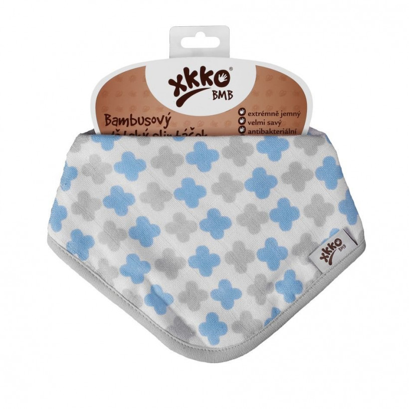 Kinderschal XKKO BMB - Scandinavian Baby Blue Cross 1 St.