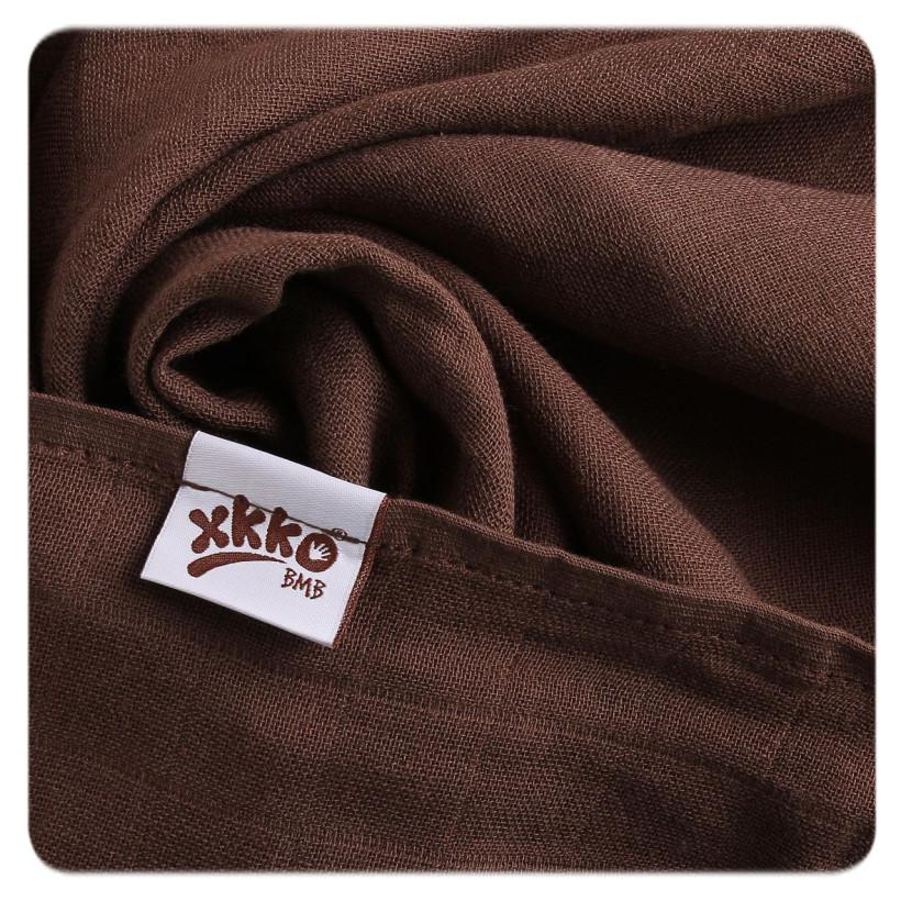 XKKO BMB Musselin Bambuswindeln 70x70 - Cyan Choco MIX 3er Pack