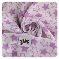 XKKO BMB Musselin Bambuswindeln 70x70 - Little Stars Lilac MIX 3er Pack