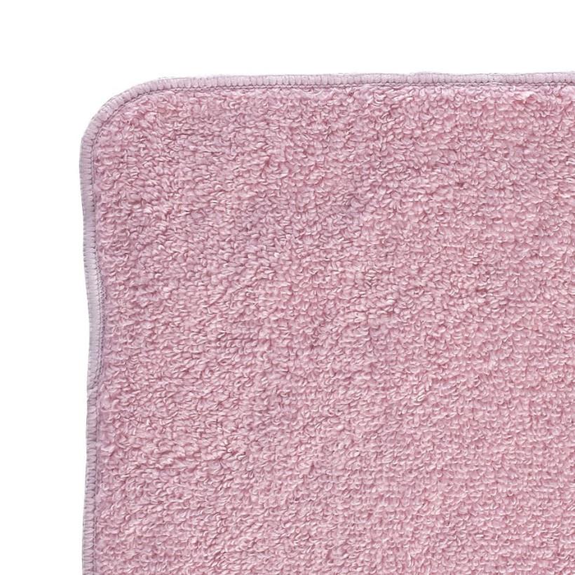 BIO baumwollefrotteetücher XKKO Organic 21x21 - Baby Pink 6er Pack