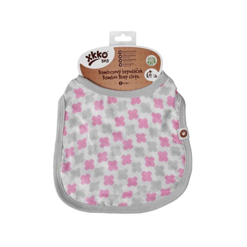 XKKO BMB Kinderlätzchen - Baby Pink Cross