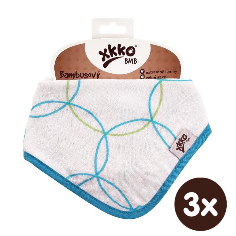 Kinderschal XKKO BMB - Cyan Circles 3x1 St. (GH packung)