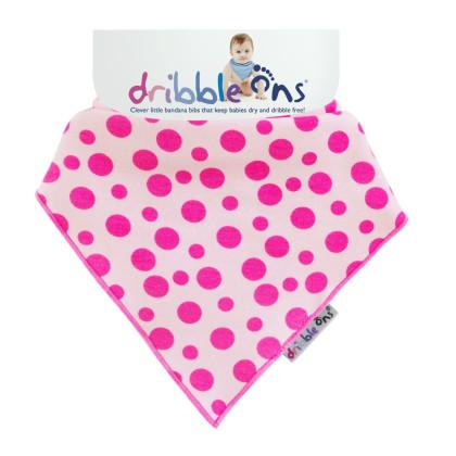Dribble Ons Designer - Pink Spots