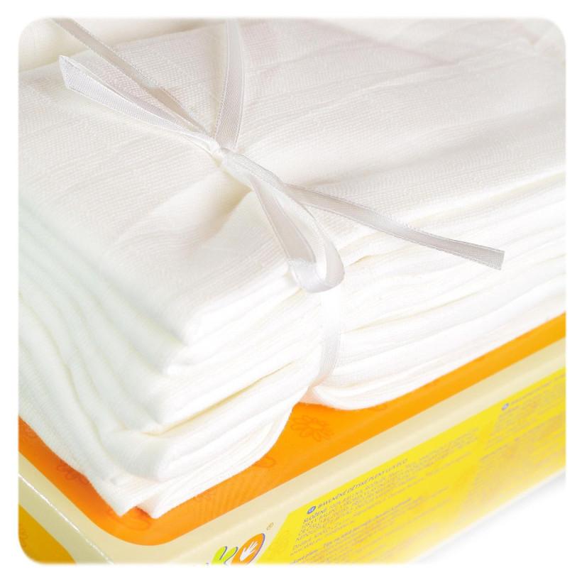 Baumwollwindeln XKKO LUX ECO 70x70 - Natural 10er Pack