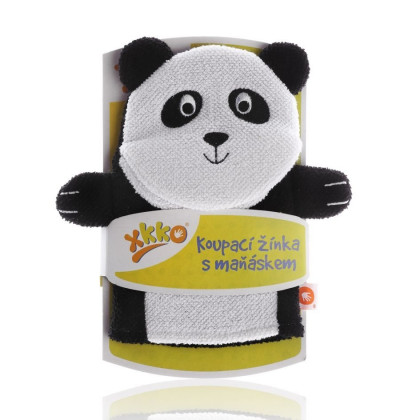 XKKO Waschlappemit Handpuppe (BA) - Panda