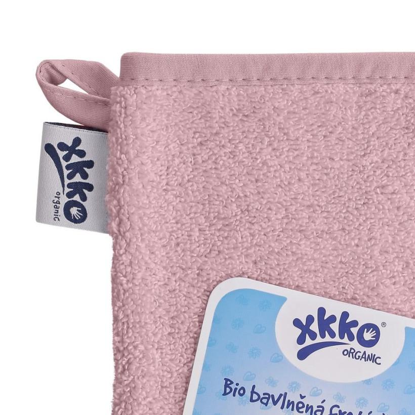 BIO baumwollefrotteewaschlappen XKKO Organic - Baby Pink 5x1St. (GH pack.)