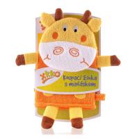 XKKO Waschlappemit Handpuppe (BA) - Giraffe New 12x1St. (GH Packung)