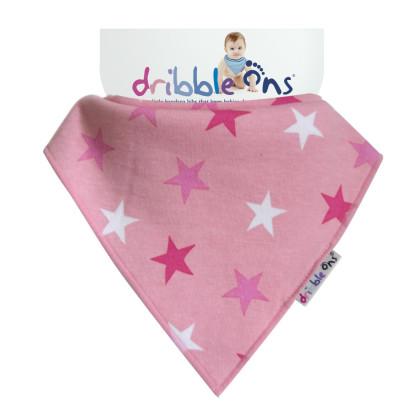 Dribble Ons Designer - Pink Stars