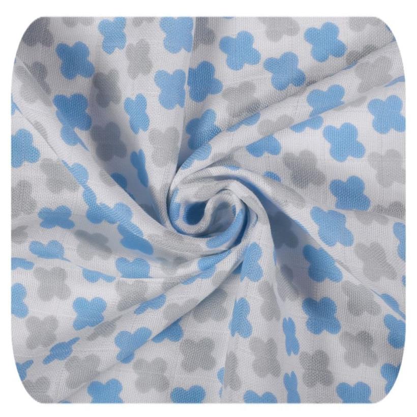 XKKO BMB Musselin Bambuswindeln 70x70 - Scandinavian Baby Blue MIX 3er Pack