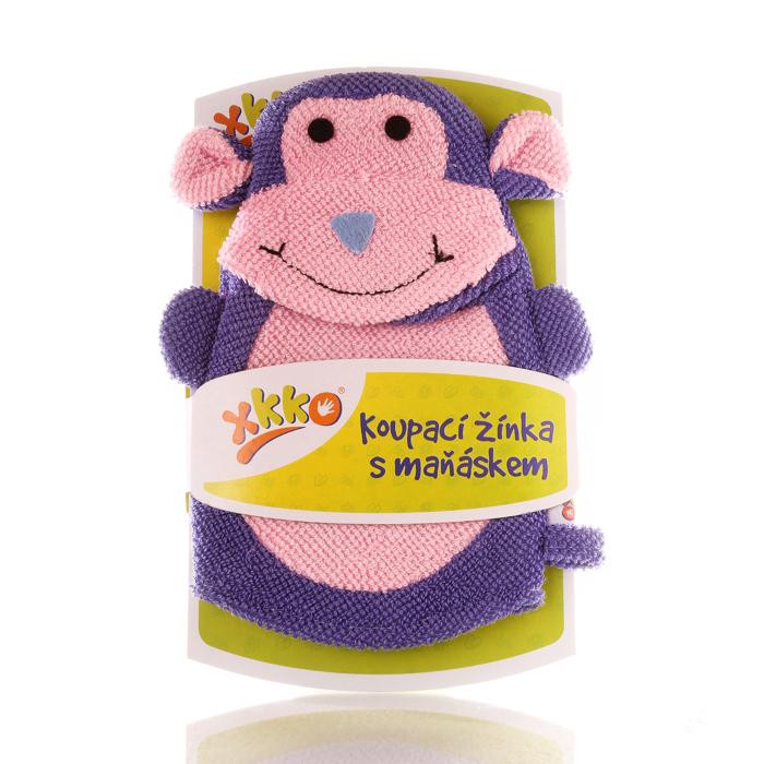 XKKO Waschlappemit Handpuppe (PE) - Monkey 12x1St. (GH Packung)