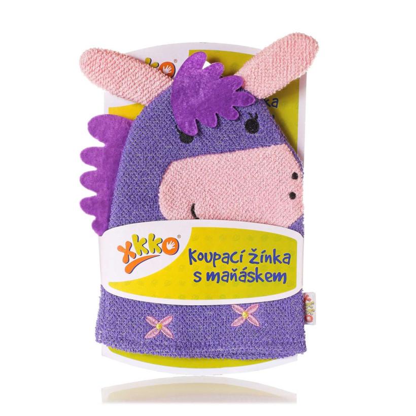 XKKO Waschlappemit Handpuppe (BA) - Donkey 12x1St. (GH Packung)