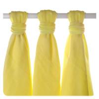 XKKO BMB Musselin Bambuswindeln 70x70 - Lemon 3er Pack