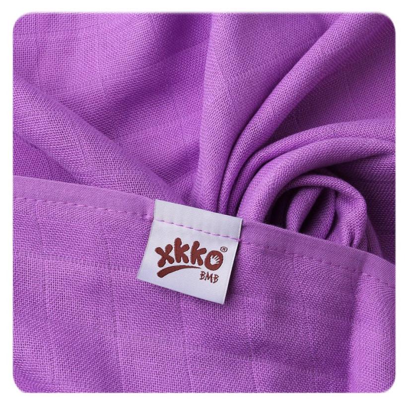 XKKO BMB Musselin Bambuswindeln 70x70 - Lilac 10x3er Pack (GH packung)