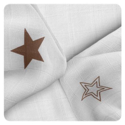 XKKO BMB Bambuswindeln 30x30 - Natural Brown Stars MIX 9er Pack