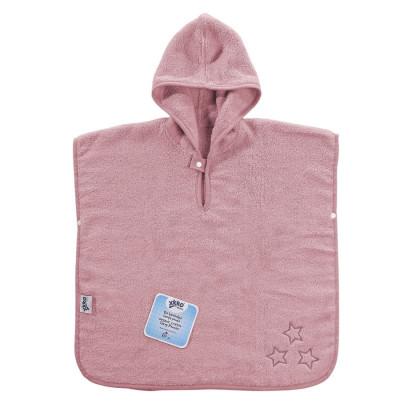 BIO Baumwollefrotteeponcho XKKO Organic - Baby Pink Stars 1St.