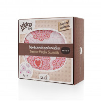 XKKO BMB Bambus Musselinwickeltuch 120x120 - Limited Edition Retro Hearts 1 St.