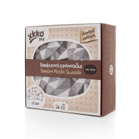 XKKO BMB Bambus Musselinwickeltuch 117x117 - Limited Edition Silver Triangles 1St.